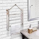Ladder Hand Towel Rack for Bathroom, Blanket Ladders for The Living Room Hanging Blanket Ladder Rustic Decorative Ladder for Blankets Whitewashed Towel Ladder