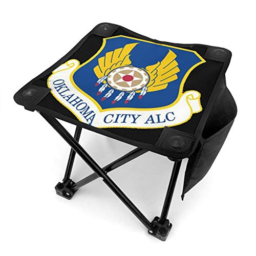 Air Force Oklahoma City ALC Vinyl Transfer Camping Outdoor Fishing Portable Camping Stool Hiking Four Corners Lined Up Stool