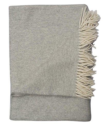 STEINBECK, Decke Teltow, 100% Wolle, 130 cm x 190 cm, 600 Gramm (Hellgrau, 130 cm x 190 cm)