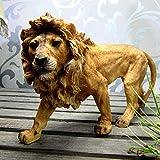 Escultura De Escritorio,Creative Handmade León Africano Escultura Resina Estatua De León Animal Salvaje Ornamento En Miniatura De La Artesanía Para La Decoración Del Hogar Y Regalo Empresarial O