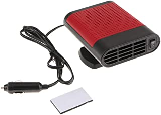 Flameer 2 in 1 Heating Cooling Function Windshield Demister Defroster Car Heater Fan Air Cleaner, Cigarette Socket - Red