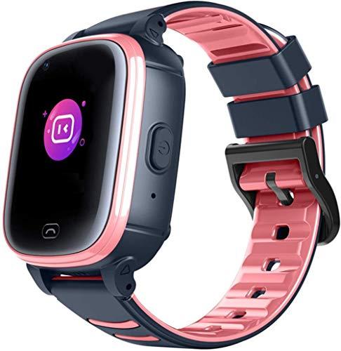 Wasserdichte Armbanduhr Smart Watch für Kinder 8-12 Sportuhr Positionierung Wasserdicht Multikinetische Energie Kinder Video Anruf Telefon Uhr erste Wahl - Pink