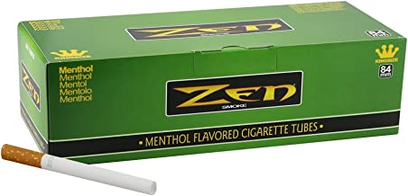 1 Box - 200pc Zen King Size Menthol Cigarette Tubes