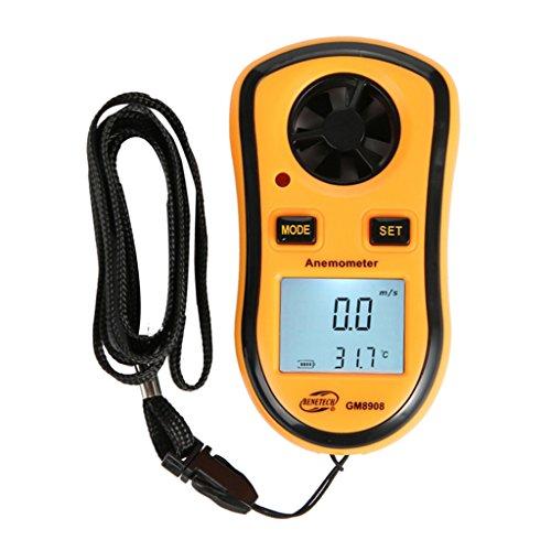 B Blesiya Anemómetro Digital, Velocímetro de Viento, Dispositivo de Medición de Velocidad para Surf/Cometa/Vuelo/Vela/Surf/Pesca (no Incluido)