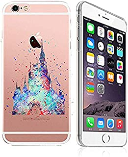 DECO FAIRY Compatible with iPhone 8 Plus / 7 Plus, Cartoon Anime Animated Princess Castle Art Painting Ultra Slim Translucent Flexible Silicone Cover Case
