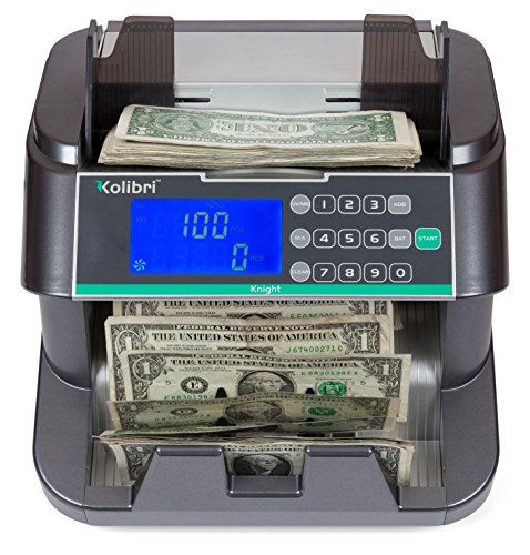Kolibri Knight Money Counting Machine, Bill Counter with UV,MG, and IR, Top Load