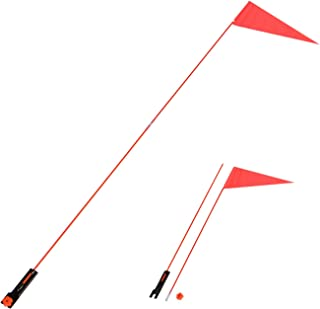 Trademark Innovations 5 Ft. Safety Flag with Bicycle Mounting Bracket Flag-Safety