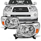 For Toyota Tacoma OE Replacement Black Headlights Driver/Passenger Head Lamps