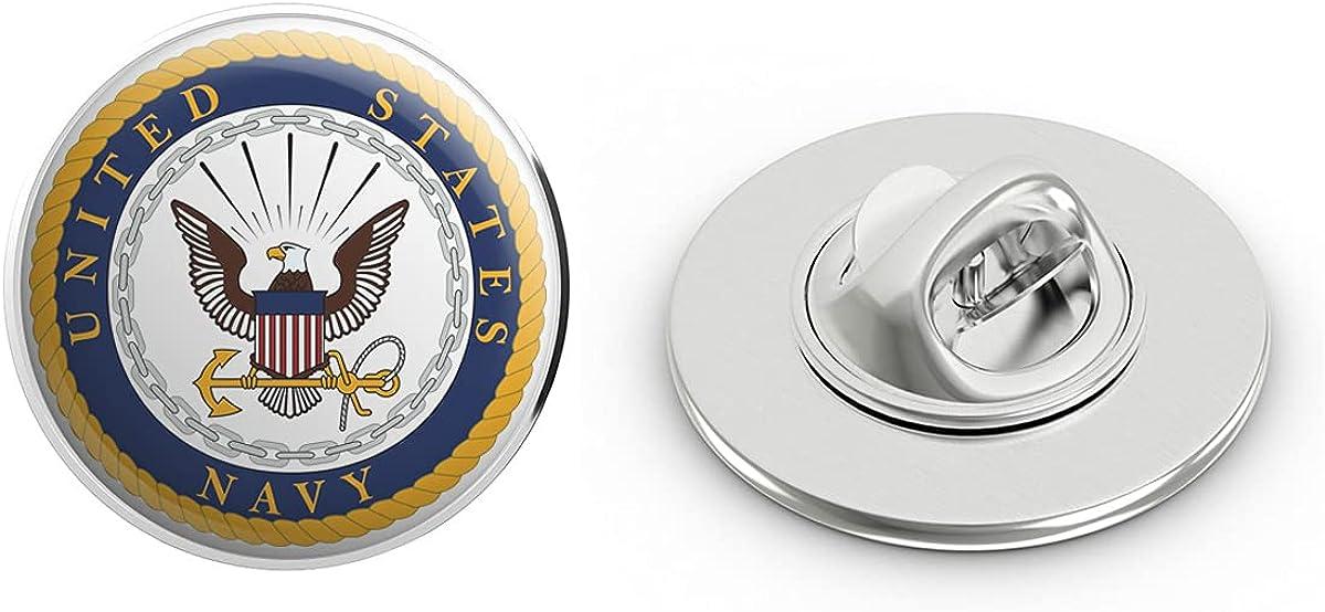 US Navy Seal Military Veteran USA Pride Served Gift Metal 0.75
