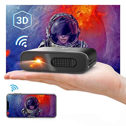 Artlii Mana, Mini Proyector Portátil WiFi 3D Móvil, Batería Recargable, DLP Proyector Móvil Pequeño, para Smartphon