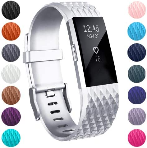 ZEROFIRE Bands Compatible for Fitbit Charge 2 Small and Large Replacement Adjustable Sport Bands for Charge 2 Heart Rate Fitness Wristbands Women Men
