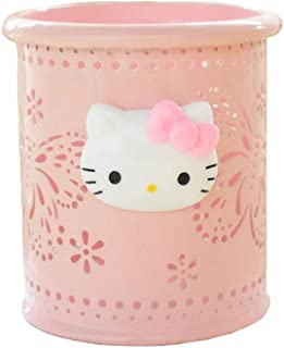 YOURNELO Cute Hello Kitty Hollow-Out Pen Pencil Holder Desk Organizer Accessories (Pink Butterfly)