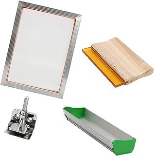 MagiDeal Aluminum Silk Screen Printing Kit for T-Shirt DIY, Press Screens Frame 15.5 inch x11.6 inch