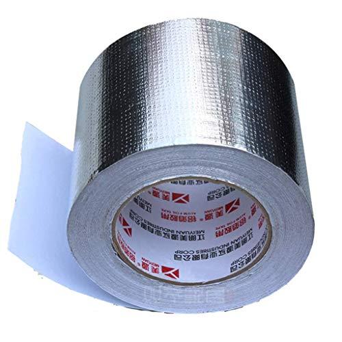 TZSJD PE Mesh-Composite-Aluminiumfolienband verdickte Temperaturbeständige wasserdicht Rohr Dichtung High Strength Reißfest Composite-PE-Folie Anti-Aging 5JD09 (Größe : 5 volume)