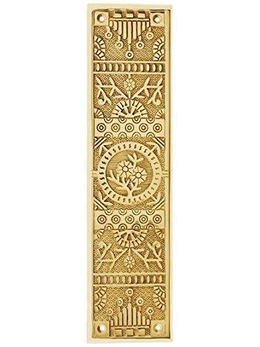 Cast Brass Windsor Pattern Push Plate in Polished Brass Finish.