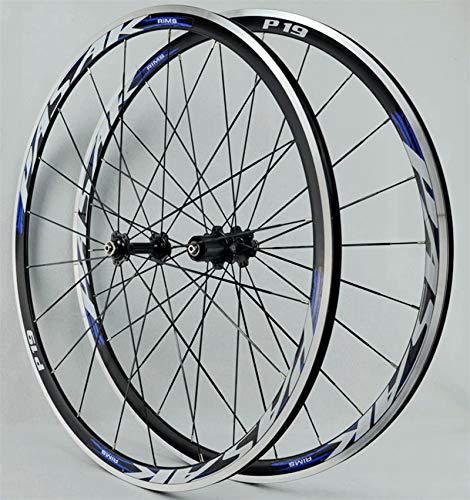 Cerchio bici Ruota per bicicletta da corsa da corsa da corsa Superlight Road CV Brake 7-11Speed Cassette Hubs Cuscinetto sigillato 6T QR 165. 0g. per assi a sgancio rapid (Color : F, Size : 700C)