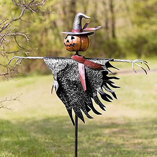 YHNMK Espantapájaros de Halloween, decoración de estaca de Tierra para Exteriores e Interiores, Accesorios Decorativos de Halloween, decoración de Exteriores