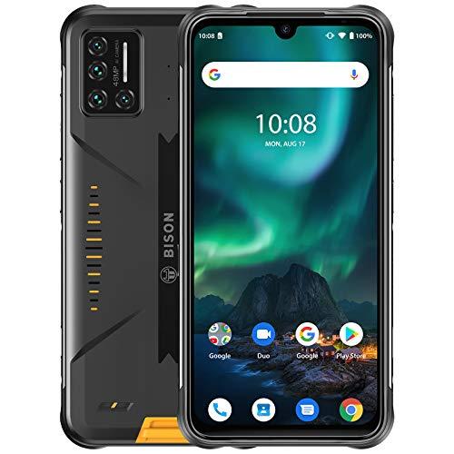 UMIDIGI BISON - Celulares desbloqueados resistentes, 6 GB+128 GB IP68 e IP69K Clasificación impermeable y resistente al polvo, teléfono celular de pantalla completa FHD+ de 6,3 pulgadas con batería de 5000 mAh y 48 MP Quad Camera Versión Global 4G VoLTE