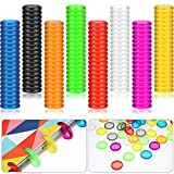 160 Pieces Expansion Discs 1 Inches Plastic Book Discbound Binding Discs Multicolor Binding Ring Discs for Notebooks and Planners