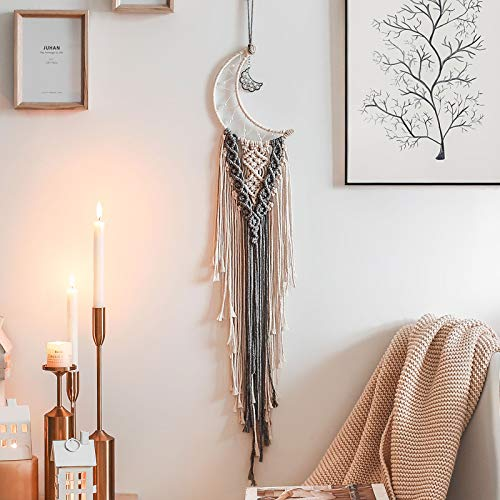 ShangTianFeng Moon Dreamcatcher Boho Baby moom Decor Dream Catcher, Christmas Decorations Home Decor Room Decor Gifts for mom Gifts for Women Nursery Decor Interesting Finds Boho Wall Decor