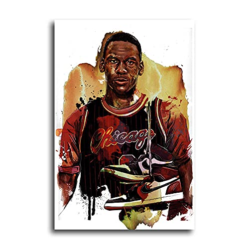 Pósters Mundial de Baloncesto NBA Michael Air Jordan MJ Chicago Bulls Papel Pintado Lienzo Pared Decoración Familiar Moderna Enmarcado o sin enmarcar Tamaños personalizados disponibles