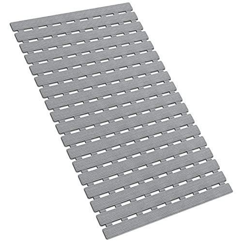 Badematte rutschfeste Duschmatte Umweltfreundliche Schnellentwässerung für den Küchenboden im Badezimmer mit starken TPE-Saugnäpfen 40 * 63CM (A-Grey)