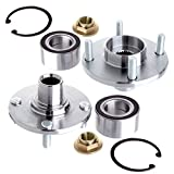 OCPTY Wheel Bearing Hub 518510 (2PCS) Front Bearing Assembly 4 Lugs Replacement fit for 2000-2009 Replacement fit For Ford Focus