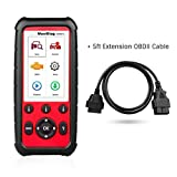 Autel MaxiDiag MD808 Pro with 5ft Extension Cable All System OBDII Scanner(Advanced MaxiCheck Pro and MD802) Oil and Battery Reset Registration, Parking Brake Pad Relearn,SAS,SRS,ABS,EPB,DPF,BMS