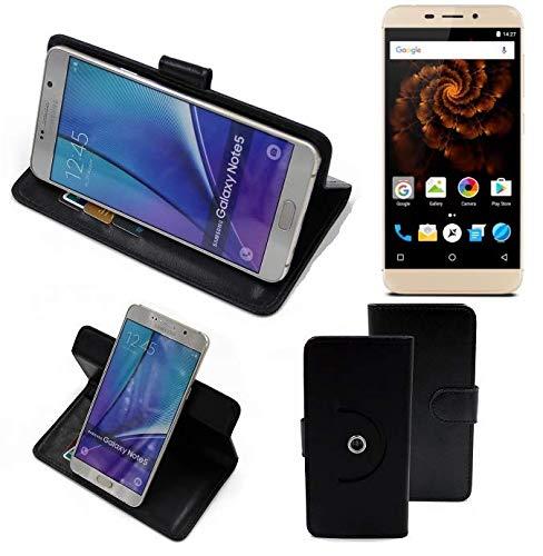 K-S-Trade® Case Schutz Hülle Für Allview X4 Soul Mini Handyhülle Flipcase Smartphone Cover Handy Schutz Tasche Bookstyle Walletcase Schwarz (1x)