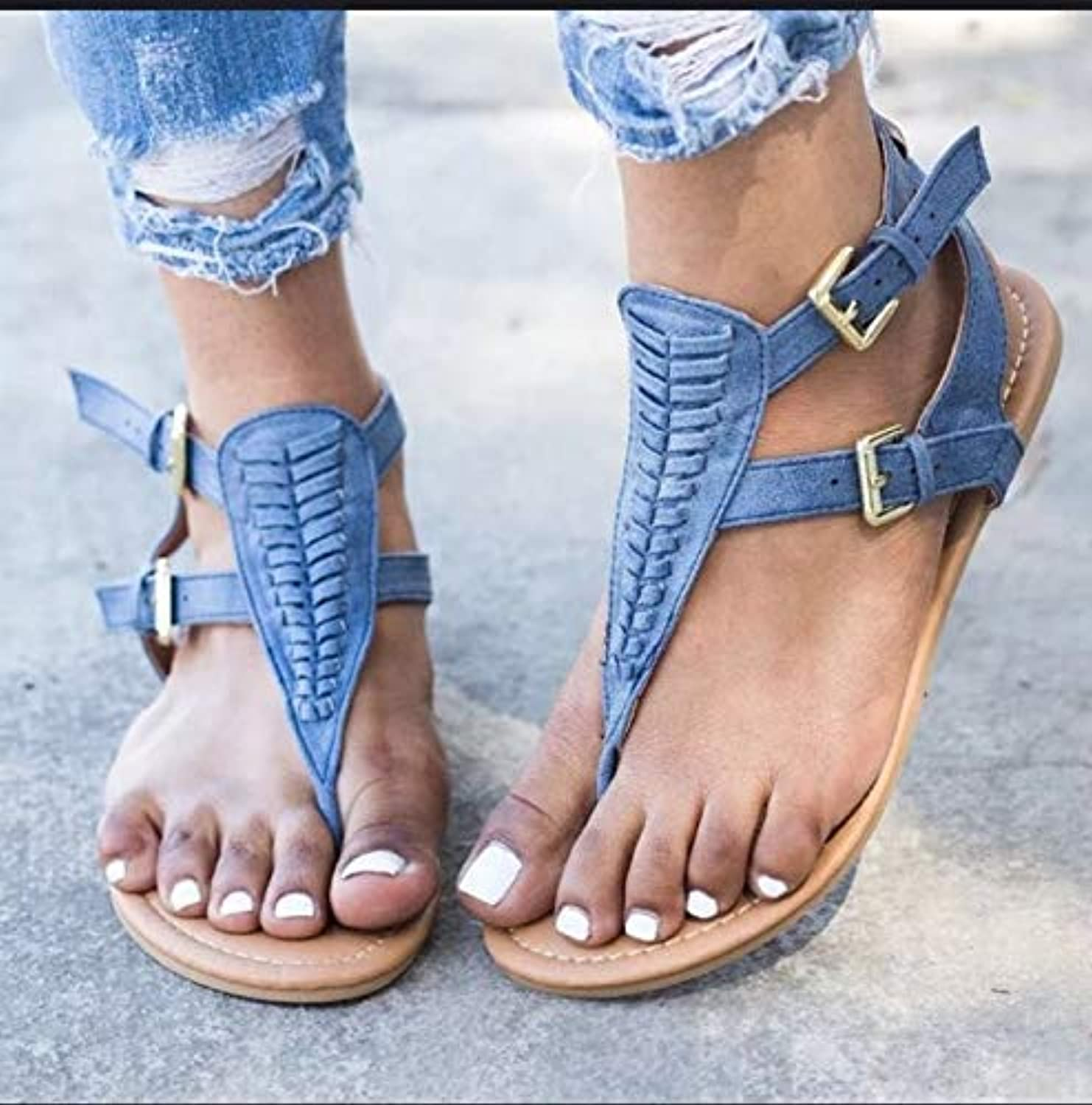 Comfortable and beautiful ladies sandals Buckle, Rome shoes, Sandals, Female Feet, Fishbone Clasps, Low Heels And Rome shoes.