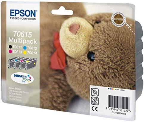 Epson C13t06154010 Multi Pack Schwarz Gelb Magenta Cyan Original Tintenpatronen Pack Of 4 Bürobedarf Schreibwaren