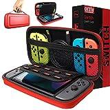 Funda de Orzly para Transportar la Nintendo Switch – Rojo Funda Dura de Viaje para Llevar la Nintendo Switch y Sus Accesorios