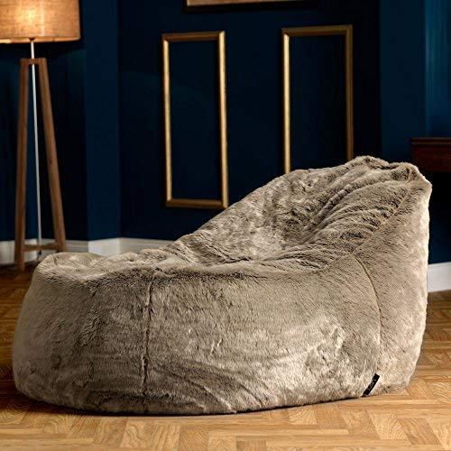 Icon Traum Liege Sitzsack - 110cm x 80cm, Riesiges Sitzsack-Tagesbett aus Kunstfell - 2
