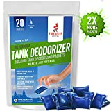 RV Septic Tank Treatment, Holding Tank Deodorizer + Waste Digester + Cleaner - 20 Packets, Mulberry – Sewer Solution, Marine Camper Portable Toilet Chemicals, Odor Eliminator, Formaldehyde Free, USA