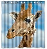 remmber me Sunny Blue Sky niedlich & schöne Giraffe Duschvorhang wasserdicht Badezimmer Dekor Polyester Stoff Vorhang Sets mit Haken 60 x 72 Zoll