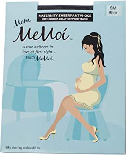 MeMoi Sheer Maternity Tights | Pregnancy Belly Support Hose