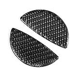 ZRNG 2pcs en Fibre de Carbone Intérieur de Voiture Manche de Porte Autocollant Trim Fit for Mini Cooper R55 / R56 / R60 Accessoires Voiture