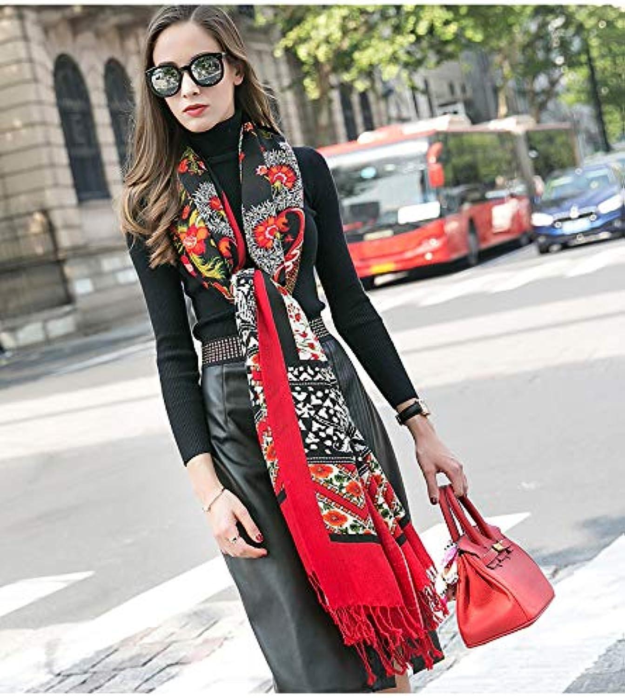JINGB Home Scarf Female Winter Travel Dualuse Cloak Oversized Shawl MultiFunction Shawl Long Section