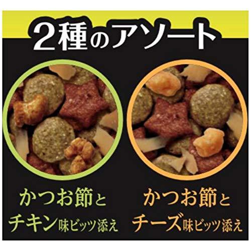 ルナキャットフードLUNAかつお節&チキン味とチーズ味ビッツ添え720g