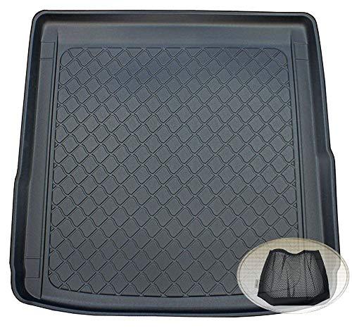 ZentimeX Z3109472 Gummierte Kofferraumwanne fahrzeugspezifisch + Klett-Organizer (Laderaumwanne, Kofferraummatte)