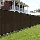E&K Sunrise 2' x 21' Feet 180 GSM Brown Fence Privacy Screen,...