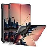 Pocketbook InkPad 3 PB740 Funda,Estuche Case Billetera Cover Cierre Magnético Caso Tapa con Wake Up/Sleep Cubrir Shell para Pocketbook InkPad 3 PB740/3 Pro PB740/Color PB741 7.8' Tablet (árboles)
