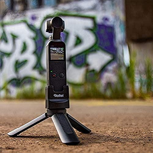 Rollei DJI Osmo Pocket I Set di accessori per principianti, mini treppiede, adattatore GoPro, modulo WLAN e adattatore treppiede