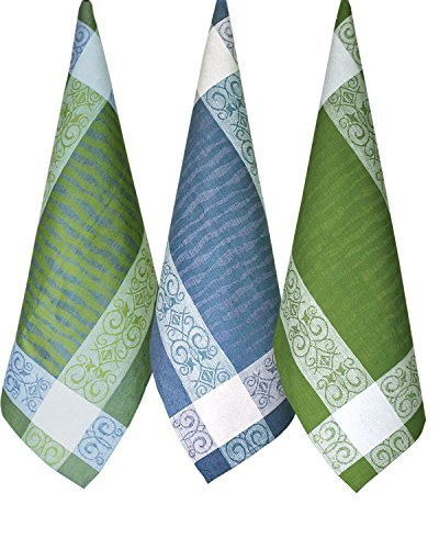 Armani International Dish Towel Set of 3 Pieces - Blend of Linen Cotton | Manifica Collection Made in Europe