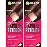 Garnier Hair Color Express retouch gray hair concealer, instant gray coverage, Brown, 0.68...
