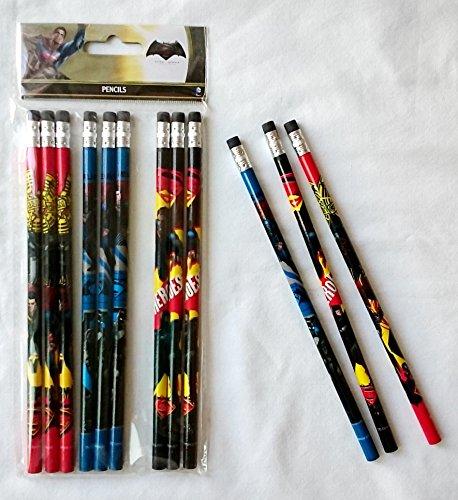 Batman Vs Superman Dawn Justice Authentic Licensed 12 Wood Pencils Pack