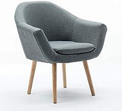 Armchair Simple Single Chair Bar Chair Living Room Bedroom Cafe Sofa Shop Reception Chair,Gray