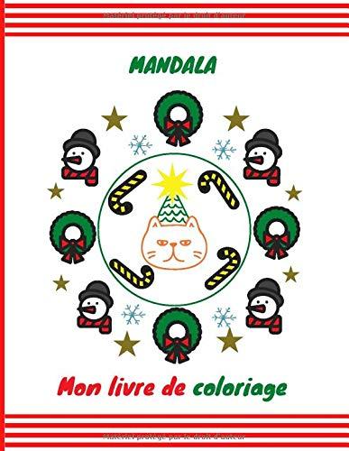 Mandala: Mon livre de coloriage | cahier d'activités pour enfants | 50 pages à colorier | 8.5x11 pouces