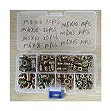 CML 100pcs / Set m4 // M5 / M6 * 8/10/13 / 15Zinc Hilo de aleación para la Tuerca de inserción de Madera Tuerca de Cabeza hexagonada con Bridas Muebles de Muebles de nueces Kit de Surtido