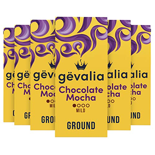 Gevalia Chocolate Mocha Flavored Mild Roast Ground Coffee (12 oz Bag, Pack of 6)